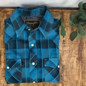 Wrangler Retro S/S Men's Small Western Shirt
